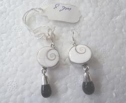 Eye Of Shiva And Black Onyx Earrings