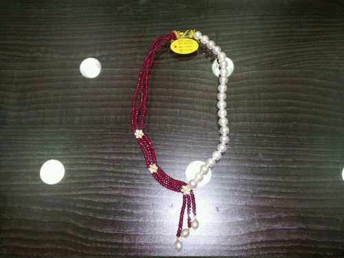 Fresh Water Pearls And Ruby