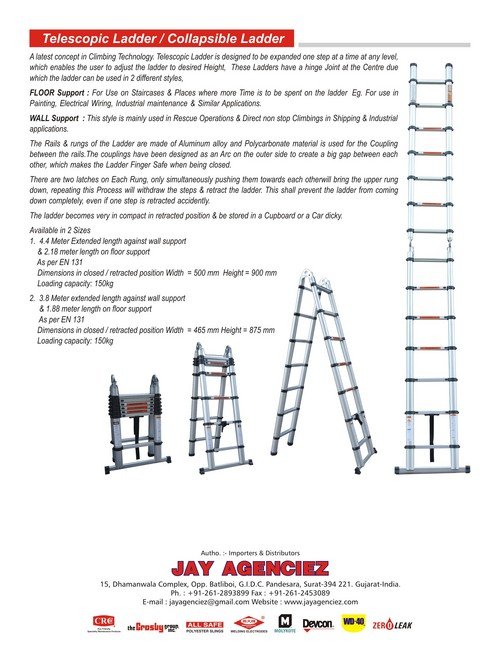 Retractable Aluminum Ladder