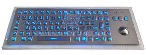 KY-PC-F2-LED Back Light Metal Keyboard With Trackball