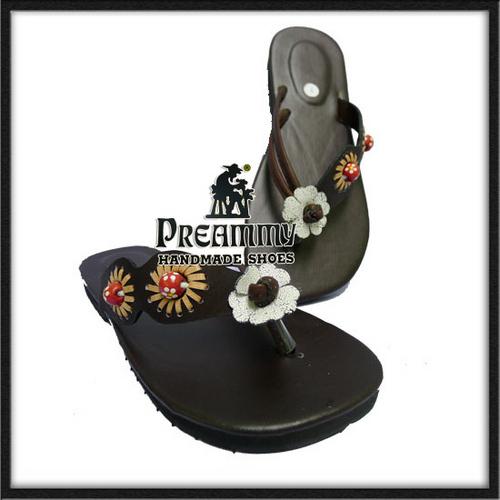 Lady PVC Leather Shoes