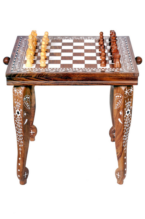 Sheesham Wood Chess Table