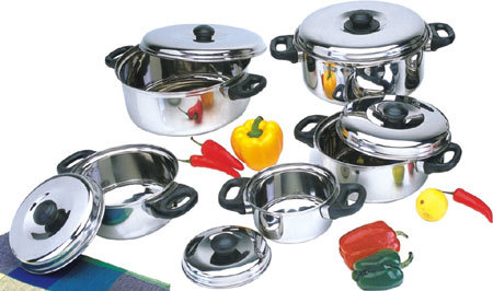 S.S 10 Pc Cookware Set