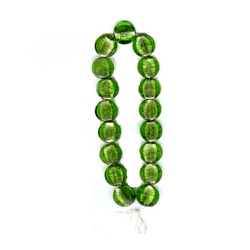 Translucent Green Foil Beads Necklace