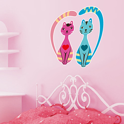 Cat Couple Wall Sticker