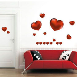 Hearts Designs Wall Stickers