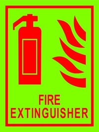 Fire Extinguisher Sign Board