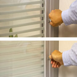 Manual Twin Glass Blinds