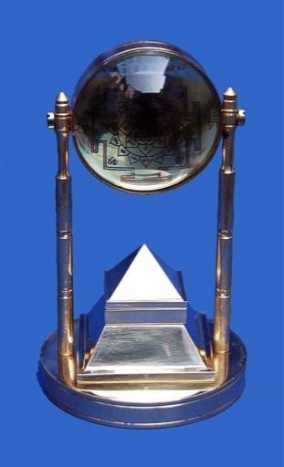 Brass Pyramid Stand Sri Yantra