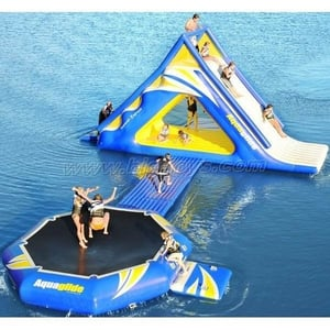 Inflatable Jump Trampoline And Slide