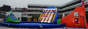 Inflatable Water Slides Pool Combo