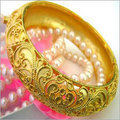Fashionable Micro Gold Plated Bangle