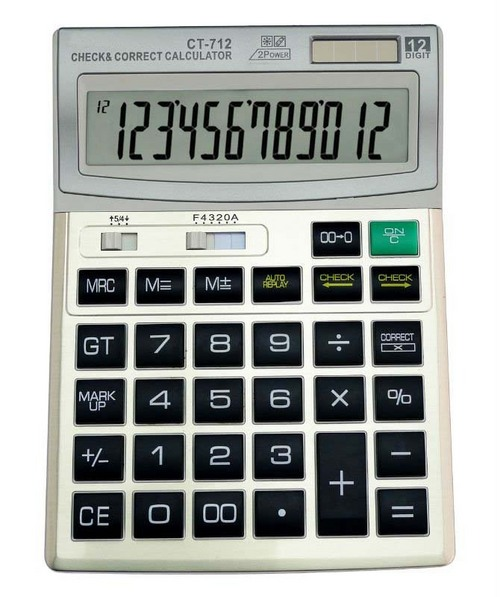 Function Tables Electronic Calculator CT-712