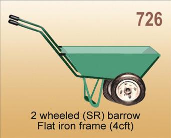2 Wheeled Sr Borrow Flat Iron Frame in  Sachin