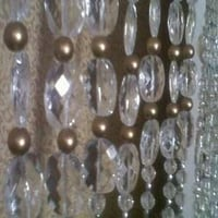 Wooden Bronze Colours Beads Curtain