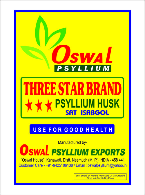 Psyllium Husk Oswal 3 Star Brand