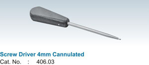 Screw Driver 4mm Cannulated