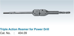 Triple Action Reamer For Power Drill