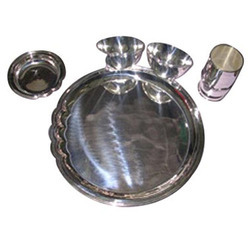 5 Pieces Silver Dining Set