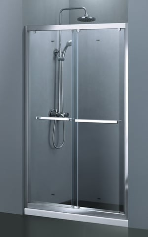Wf Hanging Wheel Double Sliding By Pass Shower Doors