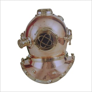 Brass And Copper Ships Divers Halmet