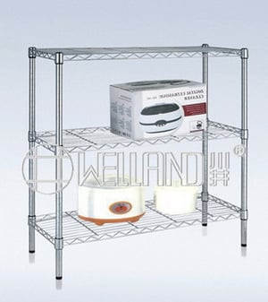 3 Tiers Home Chrome Wire Shelving