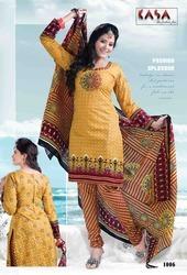 Kasa Fancy Cotton Ladies Suit