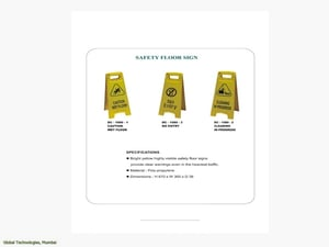 Safety Floor Sign Boards