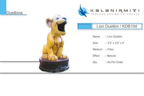 Lion Dustbin