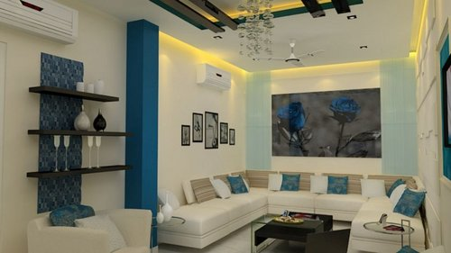 Living Room Interior Decoration Services In 50 Sector
