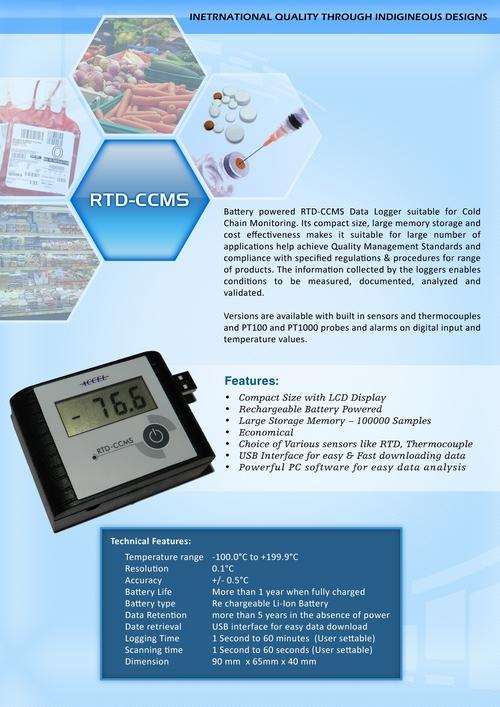 RTD-CCMS Data Logger - Sunsui Process Systems, 885/1/4