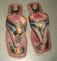 Embroidered Leather Slipper