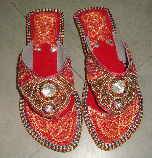 Ladies Beaded Slipper