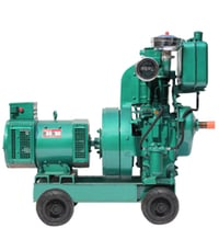 Industrial Air Cooled Generator Single Cylinder
