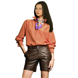 Ultramodern And Slick Leather Shorts