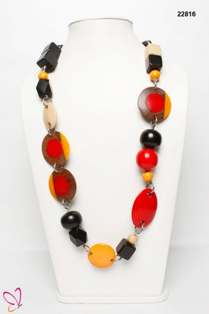 Geometrical Resin Beads Necklace