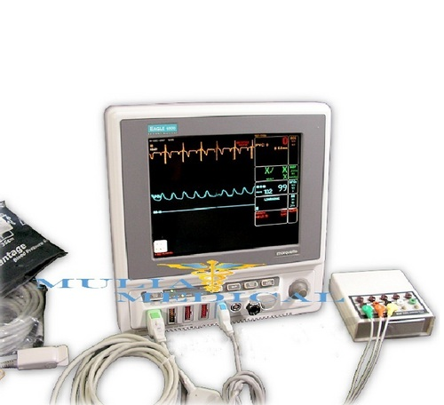 GE Marquette Eagle 4000 Vital Signs Patient Monitor with ECG NIBP SPO2 CO2
