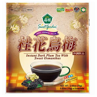 Instant Dark Plum Tea With Sweet Osmanthus