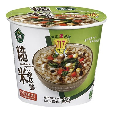 Instant Grains And Vegetables Mix- Greens And King Oyster Mushroom (Cup)