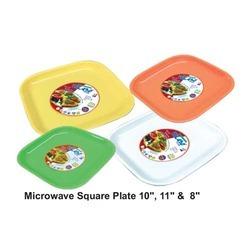 Microwave Square Plastic Plates
