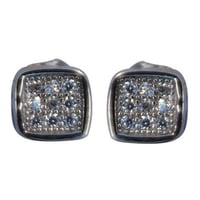 Silver Micro Pave Ear Studs