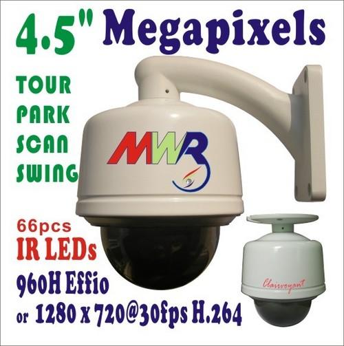 Outdoor IR PTZ Megapixels IP Dome Camera