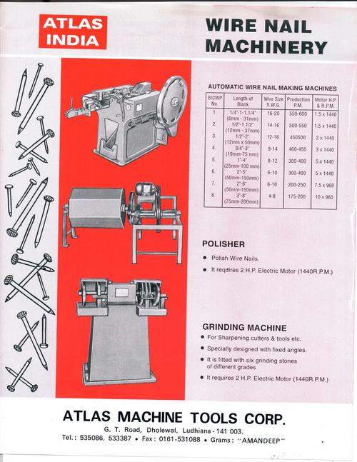 Nail Making Machine In Ludhiana, Punjab - Dealers & Traders