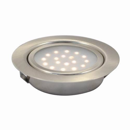 1.25W LED Recessed Round Swivel Under Cabinet Puck Light