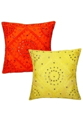 Mirror Embroidery Cushion Covers