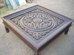 Designer Wooden Carved Coffee Table