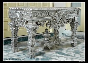 White Metal Console Table