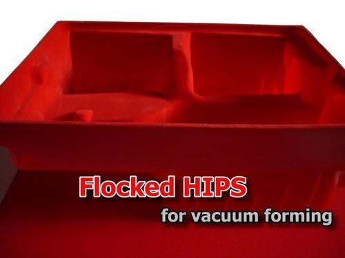 Flocked HIPS (Polystyrene)
