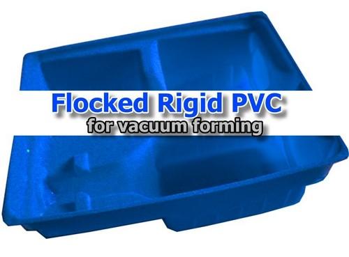 Flocked Rigid Pvc Plastic Sheet