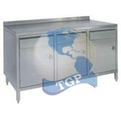 Ss Table With 3 Drawers And 3 Lockers